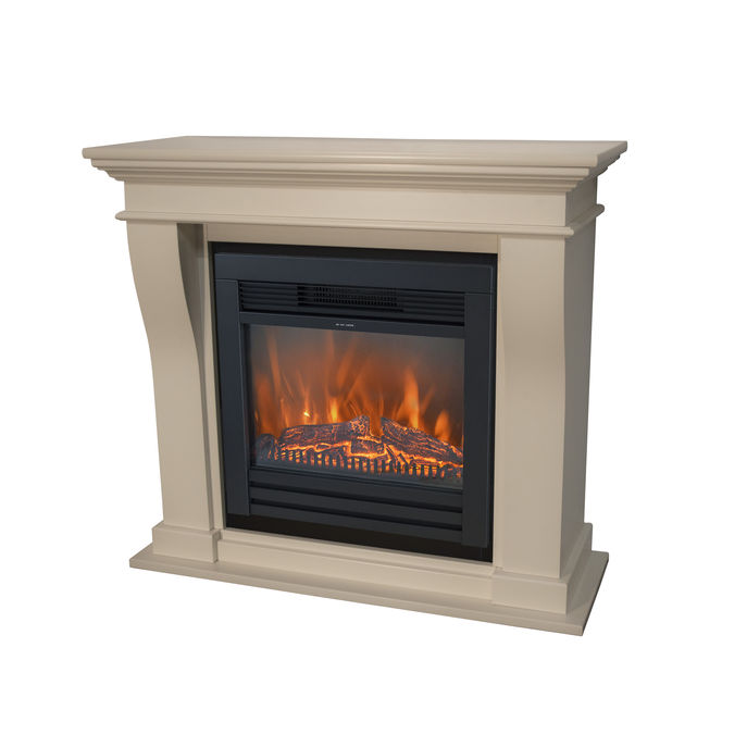 Kreta Mini MDF with Lucius electric LED fireplace