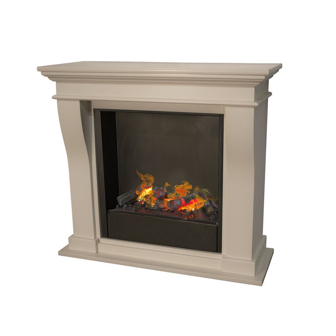 Kreta Mini MDF with opti-myst cassette 600 water vapour fireplace