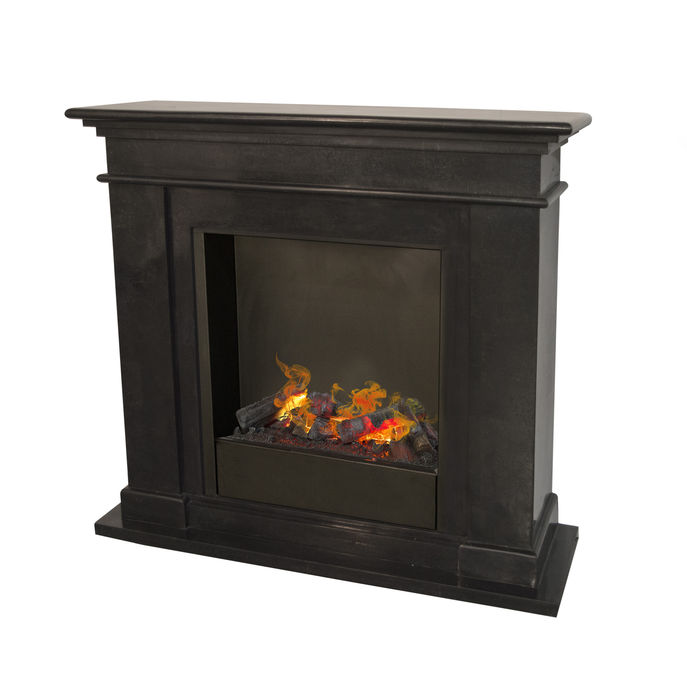 Kos F03 naturestone with opti-myst Cassette 600 water vapour fireplace