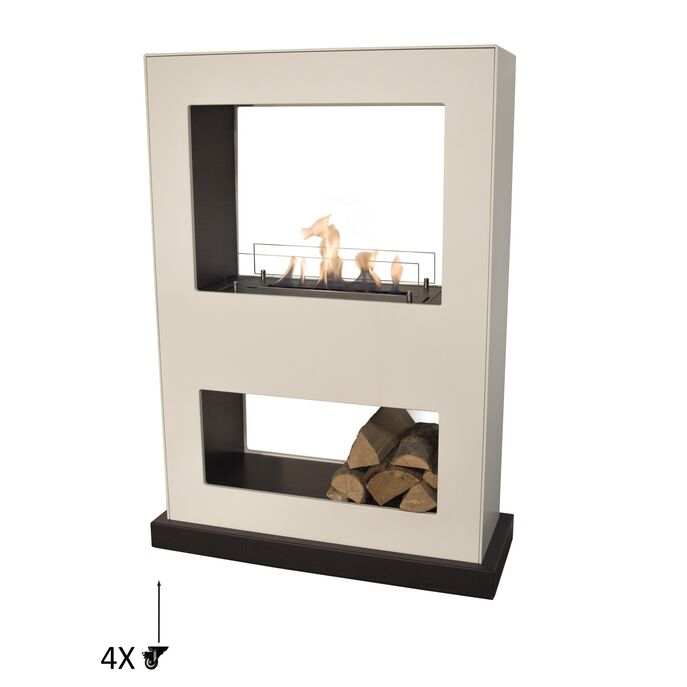 Xaralyn Lasize MDF white with bio ethanol burner L (5820LB)