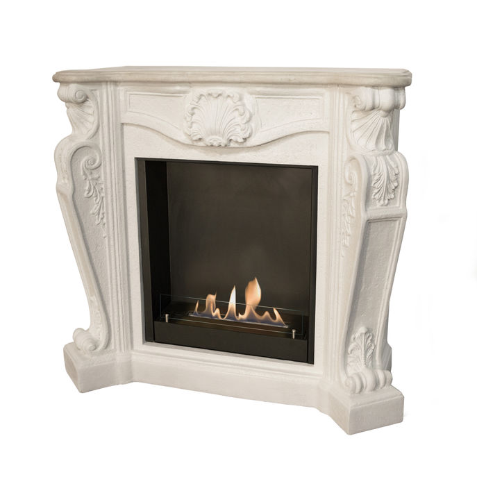 Xaralyn surround Louis composite stone off white with built-in unit L and bio ethanol burner L (5820B)
