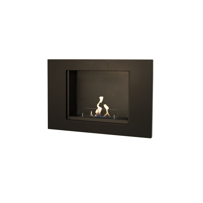 Xaralyn Goya wallsurround MDF black with bio ethanol burner S (4114B)