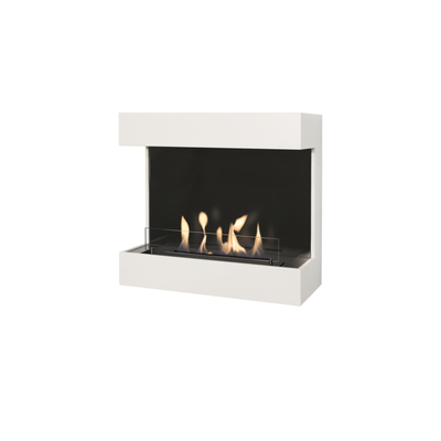 Wall-mounted fireplaces