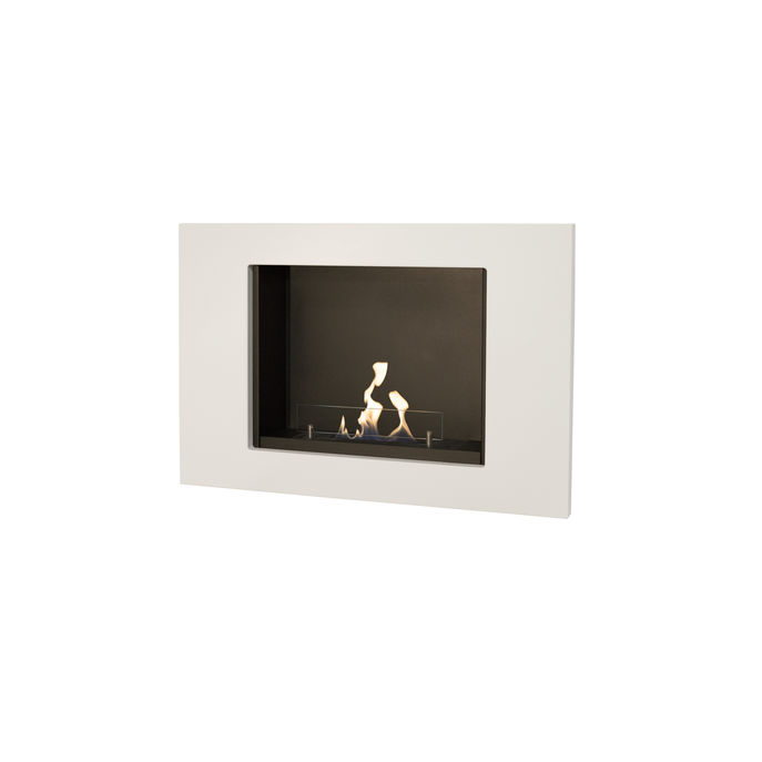 Xaralyn Goya wallsurround MDF white with bio ethanol burner S (4114B)