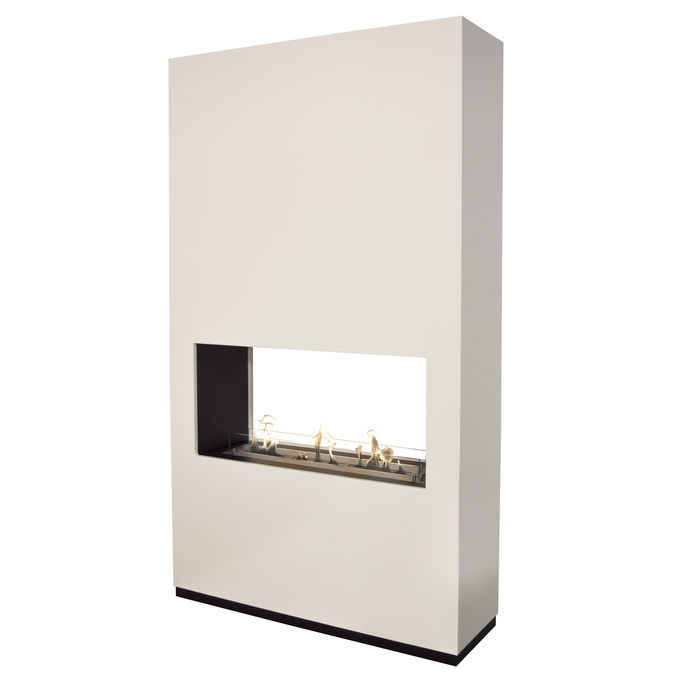 Xaralyn Ambiance see-trough MDF white with bio ethanol burner XL (8014LS)