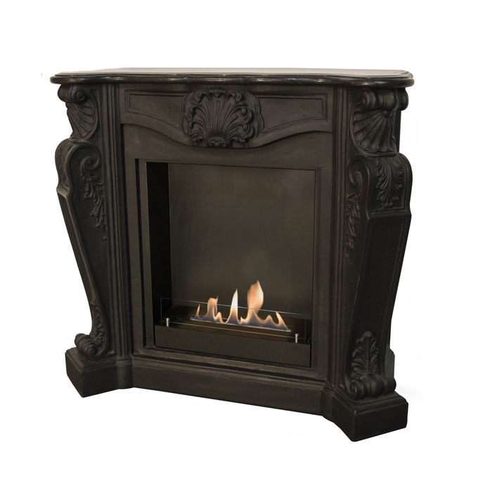 Xaralyn surround Louis composite stone black with built-in unit L and bio ethanol burner L (5820B)