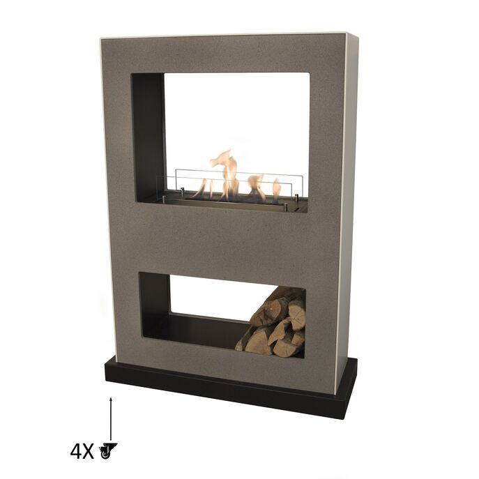 Xaralyn Lasize MDF concrete look with bio ethanol burner L (5820LB)