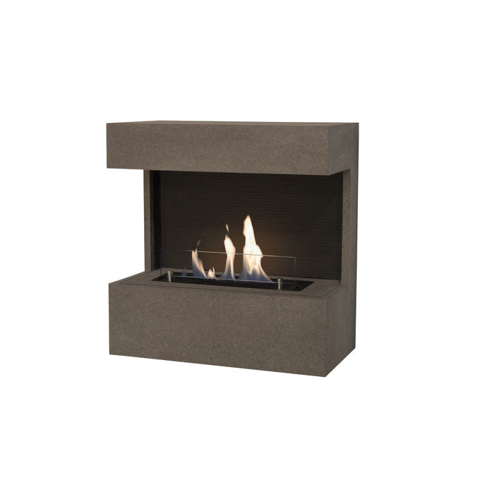 Xaralyn Nova wallsurround Concrete look grey with bio ethanol burner S (4114LB)
