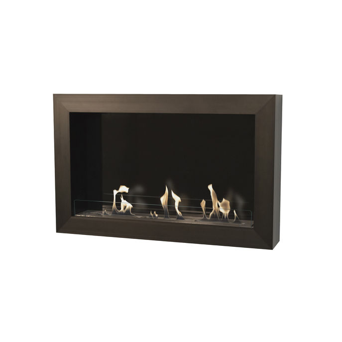 Xaralyn Atri wallsurround black with bio ethanol burner XL (8013LS)