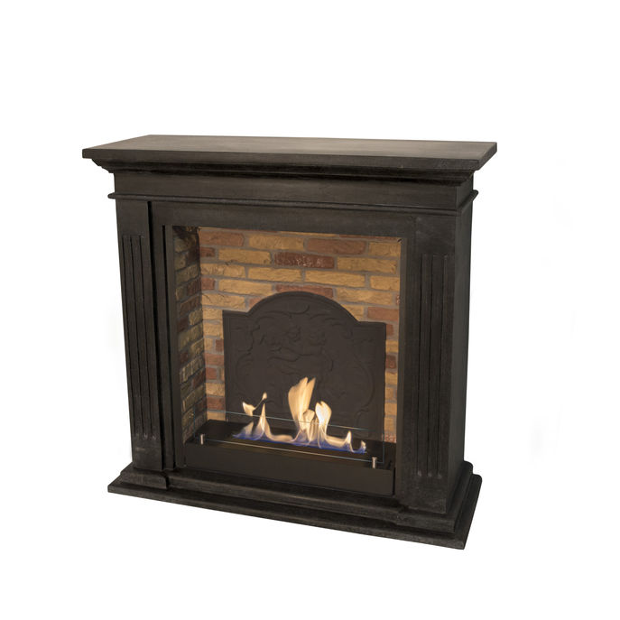 Xaralyn Cadiz naturestone black with built-in unit L with stone decor and medaillon