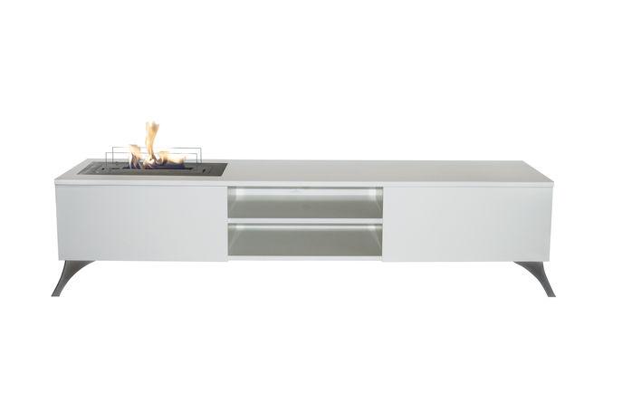 Tv Meubel 9010.Elin Tv Cabinet With Bio Ethanol Burner Xaralyn