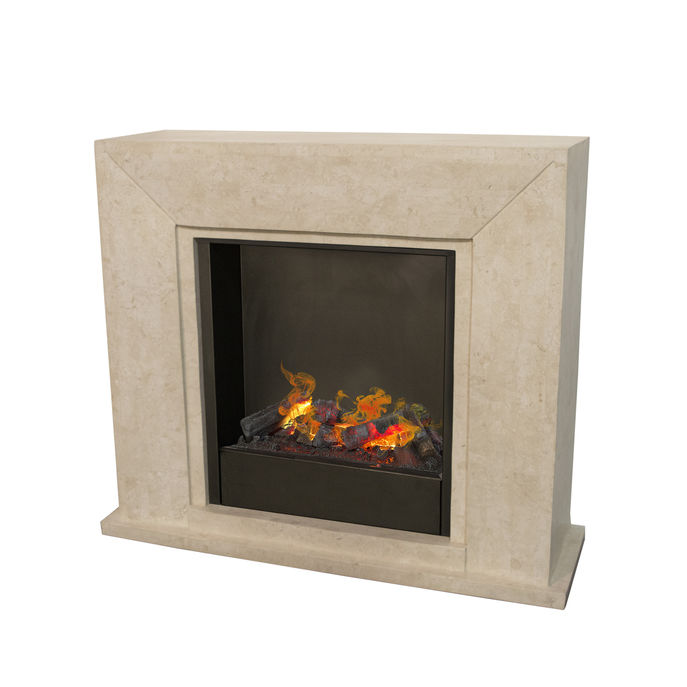 Nero F02 with opti-myst Cassette 600 water vapour fireplace