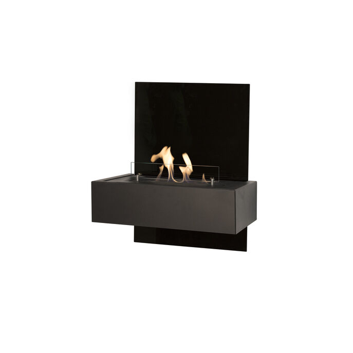 Xaralyn Quero wallsurround black glass with bio ethanol burner S (4114LB)