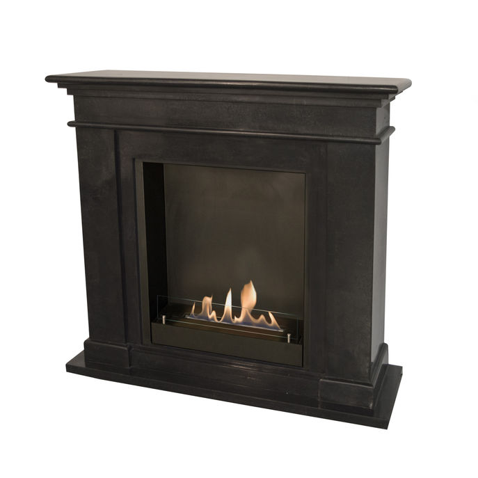 Xaralyn Kos nature stone black polished with built-in unit L and bio ethanol burner L (5820B)