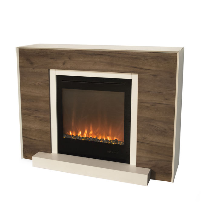 Xaralyn surround Marvik MDF white/oak with Trivero 70 Electric LED insert
