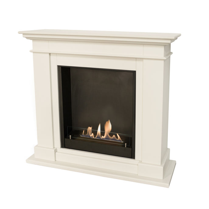 Xaralyn Kos MDF off white with built-in unit L with bio ethanol burner L (5820B)