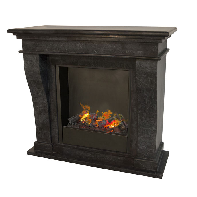 Kreta F03 naturestone with opti-myst Cassette 600 water vapour fireplace