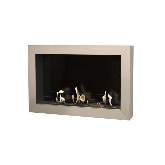 Xaralyn Atri wallsurround silver with bio ethanol burner XL (8013LS)