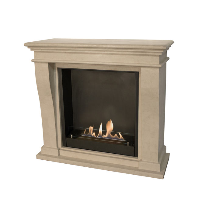 Xaralyn Kreta Mini nature stone off white polished with Built-in unit L and bio ethanol burner L (5820B)