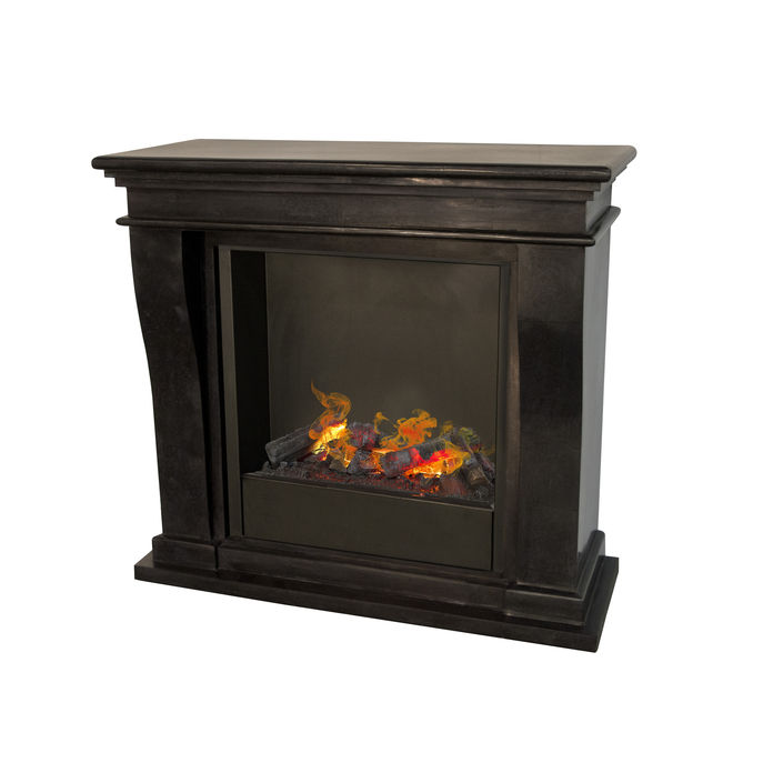 Kreta mini F03 naturestone with opti-myst Cassette 600 water vapour fireplace