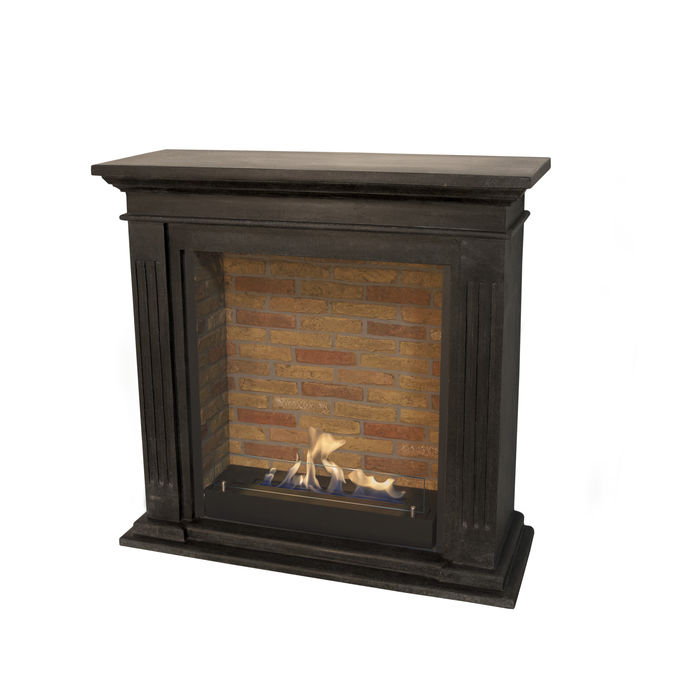 Xaralyn Cadiz naturestone black with built-in unit L with stone decor