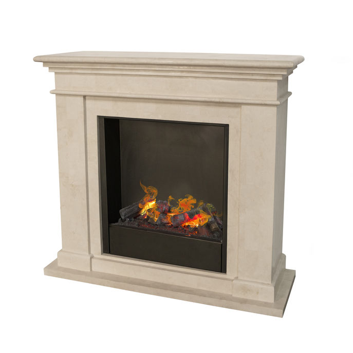 Kos F02 naturestone with Opti-Myst Cassette 600 water vapour fireplace