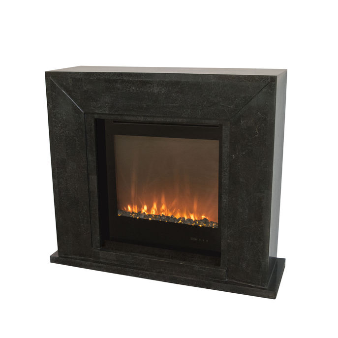 Xaralyn Nero nature stone black polished with Trivero 70 Electric LED insert