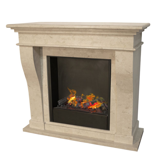 Kreta F02 naturestone with opti-myst Cassette 600 water vapour fireplace